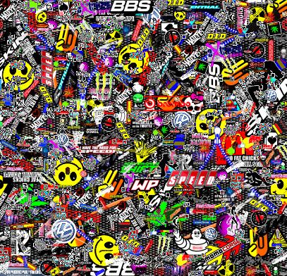Sticker bomb 50m